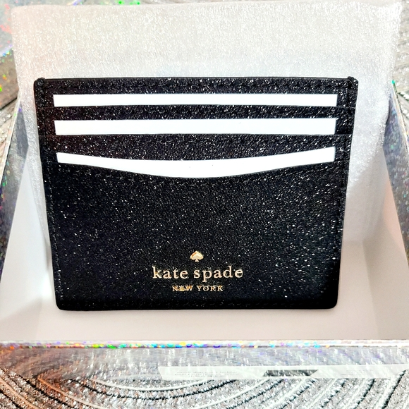 kate spade- glitter cardholder with gift box